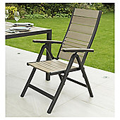 Coastal 7-position Reclining Wood & Aluminium Garden Chairs, 2 Pack