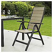 Coastal 7-position Reclining Wood & Aluminium Garden Chairs, 2 Pack