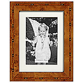Addison Ross Marquetry Single Aperture Photo Frame with Brown Star Fibre Back - 6 in x 8 in