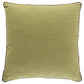 Contrast Piped Plain Cushion, Green