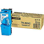 Kyocera TK-825C Cyan (Yield 7,000 Pages) Toner Cartridge for KM-C3225/KM-C4535E/KM-C3232/KM-C3232E Printers