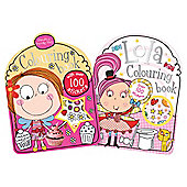 Girls Assortment Colouring and Sticker Book
