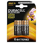 Duracell Plus 6 Pack AAA Batteries