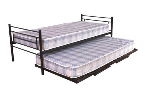 GFW Seville Trundle Bed Frame - Black