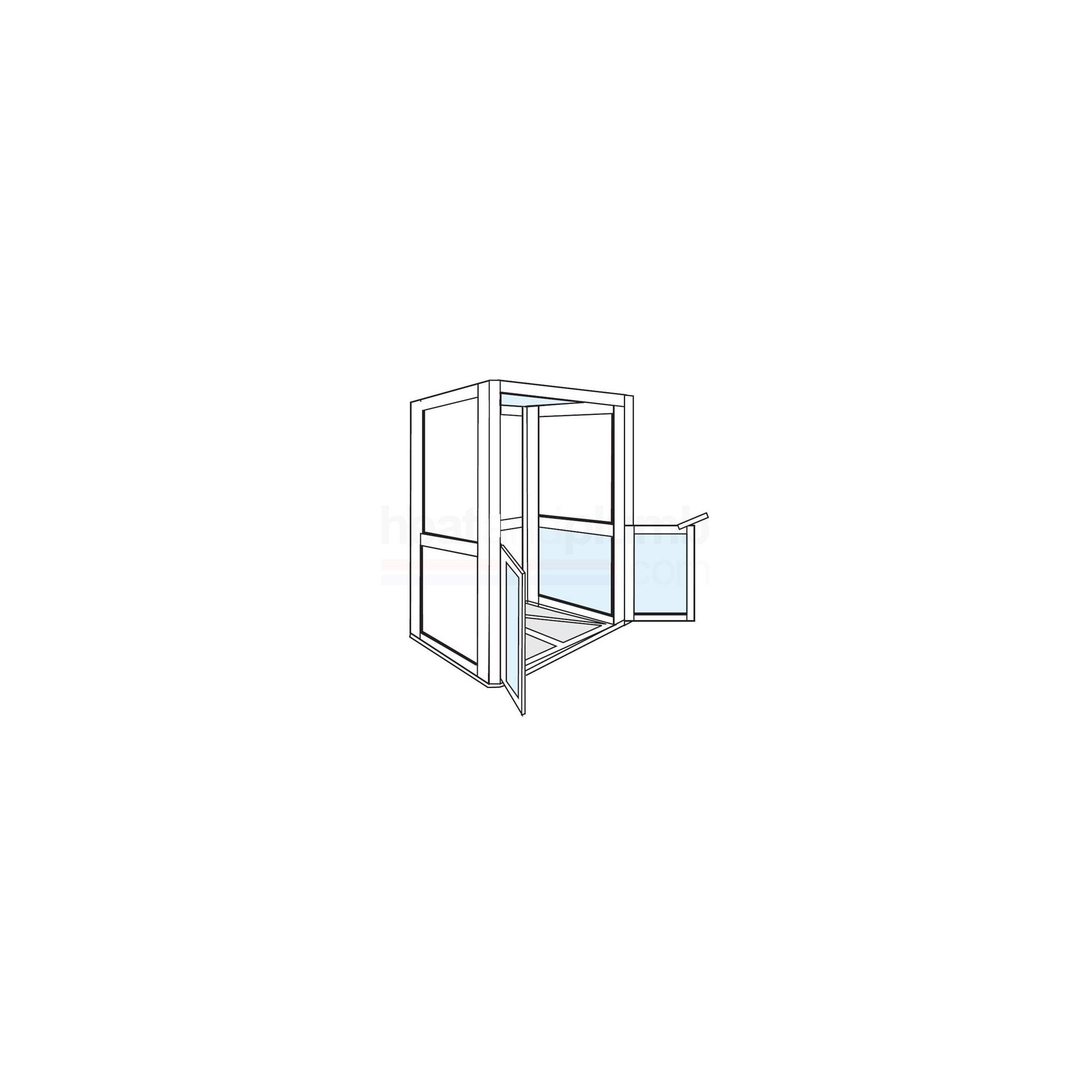 AKW Standalone Shower Cubicle 1200mm x 700mm with One Side Open at Tescos Direct