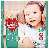 Tesco Loves Baby Ultra Dry Size 5 Junior Carry Pack 26