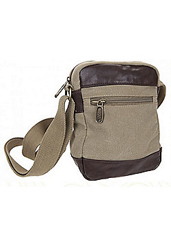 Summit Small Canvas Shoulder Bag Khaki