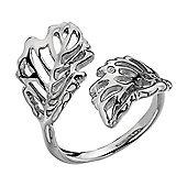 IT Diamonds Rhodium EDEN Diamond Intricate Leaf Ring
