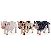 Three Little Pigs Realistic Resin Garden Ornament Set