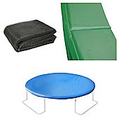 12 Ft Trampoline Accessory pack - Cover, Green Pad and Netting