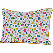 Homescapes Cotton Multi Colour Polka Dots Scatter Cushion, 30 x 50 cm
