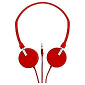 Technika Streetwise Lightweight On-Ear Headphones - Red