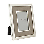 Casa Couture Cream Fabric Photo Frame 5X7 In Cream New