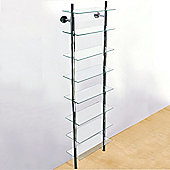 Wall Mounted Glass Bathroom Storage Shelf - Clear