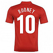 2013-14 England Away Shirt (Rooney 10) - Red