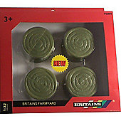 Britains Farmyard - 4pk Round Green Bales - Tomy