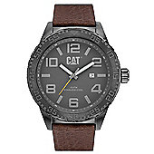 CAT Mens Leather Date Watch NH.151.35.535