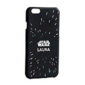 Star Wars Personalised iPhone 6 Cover - Starfield - Black