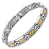 Willis Judd Ladies Titanium Magnetic Bracelet featuring Gold Carbon Fibre