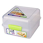 Sistema Lunch Cube To Go, 1.4L Lunch Box, Lime Green