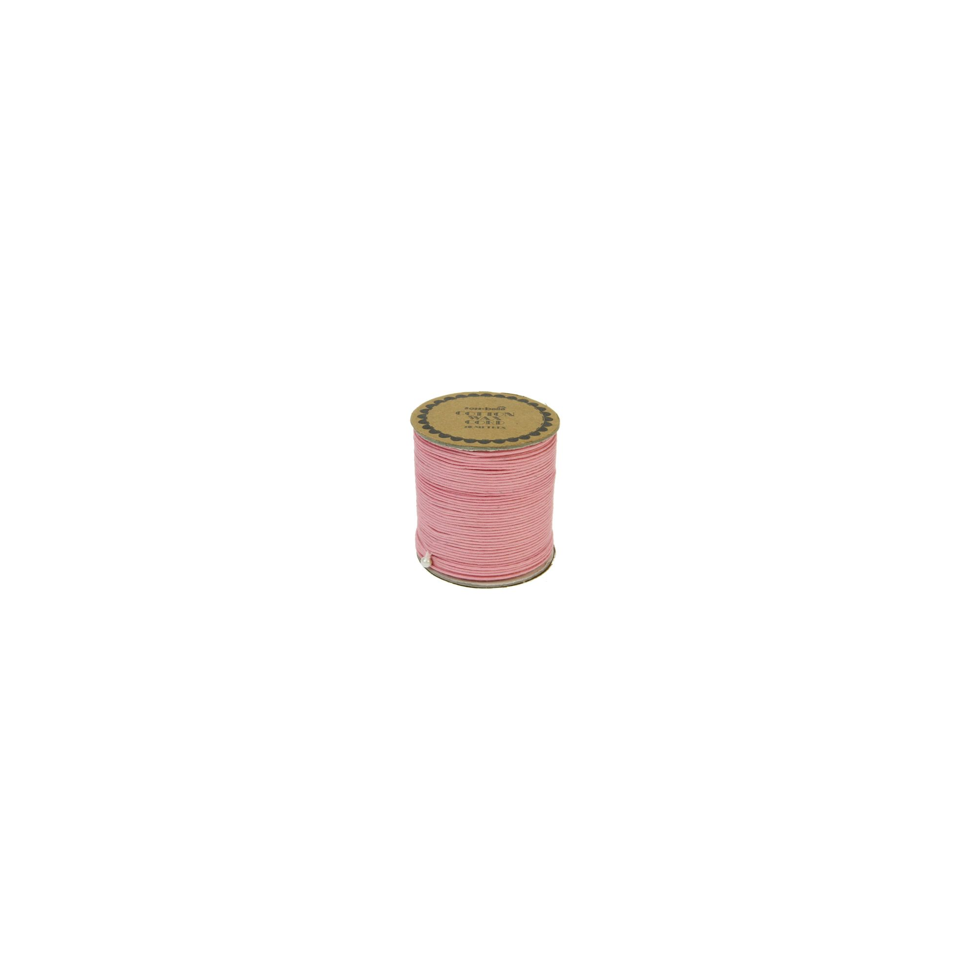 Cotton Wax Cord 20m Pink
