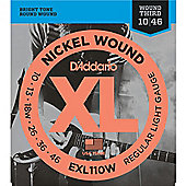 D'addario Nickel Wound, Regular Light, Wound 3rd, 10-46 Guitar Strings