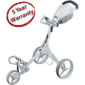 Big Max Mens Fete Blanche IQ+ 3 Wheel Golf Trolley in White