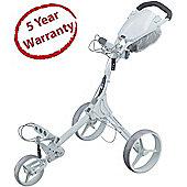 Big Max Mens Fete Blanche IQ+ 3 Wheel Golf Trolley in White