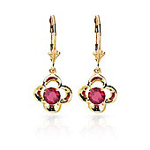 QP Jewellers 1.10ct Ruby Corona Earrings in 14K Gold