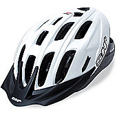 SH+ Pulse Helmet: Pearl White L/XL.