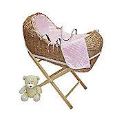 PreciousLittleOne Baby Pod Walnut Wicker (Dimple Pink)