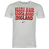 2014-15 England Nike Core Type Tee (White) - White