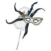 Feathered Mask On Stick