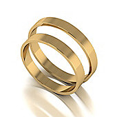 9ct Gold 3mm Flat Wedding Band