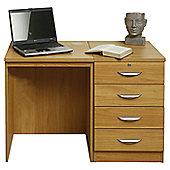 Enduro Home Office Desk / Workstation with Four Drawer - Beech