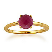 Gemondo Amour Damier 9ct Yellow Gold 1.00ct 4 Claw Set Checkerboard Ruby Ring