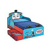 Thomas the Tank Engine Toddler Bed with Storage & Foam Mattress