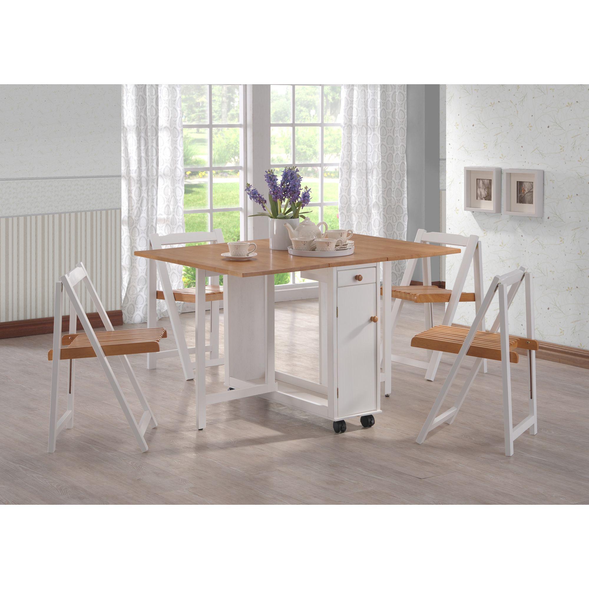 G&P Furniture Gate-Leg 5 Piece Dining Set at Tesco Direct