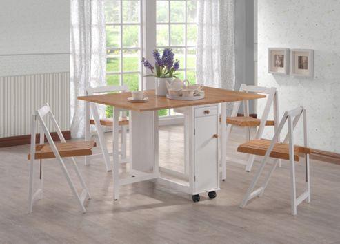 G&P Furniture Gate-Leg 5 Piece Dining Set
