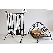 Eden Garden Group 6 Piece Fireplace Companion Set