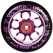 Madd Gear MGP Aero Skull Wheel 100mm inc Bearings - Purple