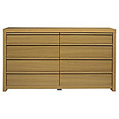 Tribeca 8 Drawer Chest Oak