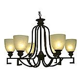 Loxton Lighting 6 Light Square Arm Chandelier