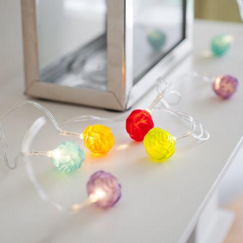 Tesco Novelty Lighting : Buy 10 Multi Coloured Rose Battery LED Fairy Lights from our Novelty Lighting range - Tesco