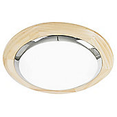 Endon Lighting Two Light Flush Ceiling Light - Natural