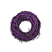 Small Purple Glitter Finish Round Grapevine Wreath
