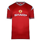 Manchester United 1985 Home Shirt Red & White L