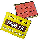 Pioneer Billard Chalk (12 Pieces) - Chalk Colour : Red