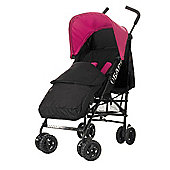 Obaby Atlas Black & Grey Stroller with Black Footmuff - Pink