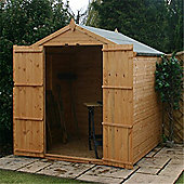 6ft x 6ft Tongue & Groove Apex Shed With Double Doors